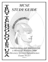 Microsoft Windows 2000 Directory Services Infrastructure Concepts