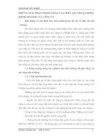 NHỮNG GIẢI PHÁP NHẰM NÂNG CAO HIỆU QUẢ HOẠT ĐỘNG KIINH DOANH CỦA CÔNG TY