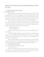 MỘT SỐ VẤN ĐỀ VỀ DU LỊCH VÀ KINH DOANH LỮ HÀNH DU LỊCH