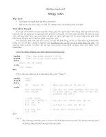 Bài thực hành số 1: Nhập môn