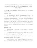 CÁC GIẢI PHÁP MỞ RỘNG VÀ NÂNG CAO CHẤT LƯỢNG THANH TOÁN KHÔNG DÙNG TIỀN MẶT TẠI NGÂN  HÀNG ĐẦU TƯ VÀ PHÁT TRIỂN CAO BẰNG