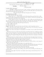 Giáo án Bồi dưỡng Ngữ văn 8