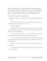 PHƯƠNG HƯỚNG VÀ GIẢI PHÁP ĐẨY NHANH HOẠT ĐỘNG TIÊU THỤ SẢN PHẨM CỦA CÔNG TY CỔ PHẦN ĐẦU TƯ PHÁT TRIỂN CÔNG NGHỆ THỜI ĐẠI MỚI