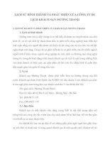 LỊCH SỬ HÌNH THÀNH VÀ PHÁT TRIỂN CỦA CÔNG TY DU LỊCH KHÁCH SẠN MƯỜNG THANH