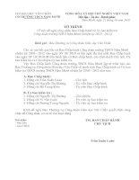 Tờ trình đề nghị công nhận BCH CĐ mới