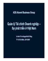 Quản lý tài chính của Doanh nghiệp _ Sự phát triển ở Việt Nam