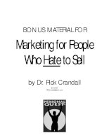 Marketing for People Who Hate to Sell