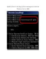 Quản lý Server với công cụ Servermanager.exe mới của Windows Server 2008
