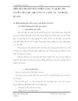 MỘT SỐ GIẢI PHÁP HOÀN THIỆN CÔNG TÁC QUẢN TRỊ NGUỒN NHÂN LỰC TẠI CÔNG TY TNHH TM – XD ĐÔNG QUANG