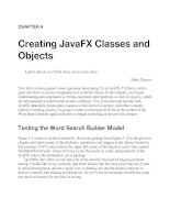 Creating JavaFX Classes and Objects