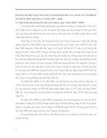 ĐÁNH GIÁ HIỆU QUẢ SẢN XUẤT KINH DOANH CỦA CÔNG TY CỔ PHẦN XI MĂNG BỈM SƠN QUA 3 NĂM 2007