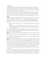 Bài tập vô cơ dành cho HSG