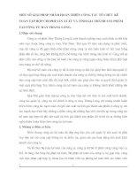 MỘT SỐ GIẢI PHÁP NHẰM HOÀN THIỆN CÔNG TÁC TỔ CHỨC KẾ TOÁN TẬP HỢP CHI PHÍ SẢN XUẤT VÀ TÍNH GIÁ THÀNH SẢN PHẨM TẠI CÔNG TY MAY THĂNG LONG