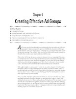 Creating Effective Ad Groups