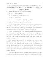 TÌNH HÌNH THỰC TẾ CÔNG TÁC KẾ TOÁN NGUYÊN VẬT LIỆU VỚI VIỆC NÂNG CAO HIỆU QUẢ SỬ DỤNG VỐN LƯU ĐỘNG TẠI CÔNG TY DỆT 8 3