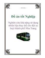 Đồ án tốt Nghiệp: Nghiên cứu khả năng sử dụng nhiên liệu thay thế cho đội xe buýt thành phố Nha Trang