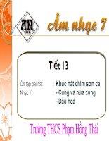 Tiết 13 - AN 7
