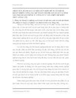 NHẬN XÉT, ĐÁNH GIÁ VÀ MỘT SỐ Ý KIẾN ĐỀ XUẤT NHẰM HOÀN THIỆN CÔNG TÁC KẾ TOÁN CHI PHÍ SẢN XUẤT VÀ TÍNH GIÁ THÀNH SẢN PHẨM  Ở  CÔNG TY TƯ VẤN THIẾT KẾ KIẾN TRÚC SÔNG CẦU