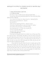 KHÁI QUÁT VỀ CÔNG TY CỔ PHẦN SẢN XUẤT THƯƠNG MẠI ĐẠI THANH