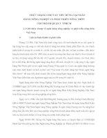 THỰC TRẠNG CHO VAY TIÊU DÙNG TẠI NGÂN HÀNG NÔNG NGHIỆP VÀ PHÁT TRIỂN NÔNG THÔN CHI NHÁNH QUẬN 5  TPHCM