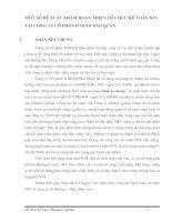 MỘT SỐ ĐỀ XUẤT NHẰM HOÀN THIỆN TỔ CHỨC KẾ TOÁN NVL TẠI CÔNG TY CỔ PHẦN ĐT&XD BẢO QUÂN