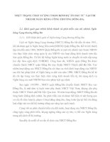 THỰC TRẠNG CHẤT LƯỢNG THẨM ĐỊNH DỰ ÁN ĐẦU TƯ  TẠI CHI NHÁNH NGÂN HÀNG CÔNG THƯƠNG ĐỐNG ĐA