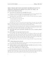 THỰC TRẠNG KẾ TOÁN TẬP HỢP CHI PHÍ SẢN XUẤT VÀ TÍNH GIÁ THÀNH SẢN PHẨM TẠI CÔNG TY THỨC ĂN CHĂN NUÔI TRUNG ƯƠNG
