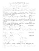 bài tập ôn tập chương I - Hình học 9