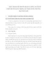 THỰC TRẠNG RỦI RO TÍN DỤNGVÀ CÔNG TÁC QUẢN LÍ RỦI RO TÍN DỤNG TRONG CÁC NGÂN HÀNG THƯƠNG MẠI VIỆT NAM