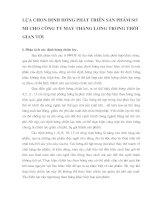 LỰA CHỌN ĐỊNH HƯỚNG PHÁT TRIỂN SẢN PHẨM SƠ MI CHO CÔNG TY MAY THĂNG LONG TRONG THỜI GIAN TỚI