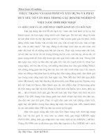 THỰC TRẠNG VÀ GIẢI PHÁP VỀ XÂY DỰNG VÀ PHÁT HUY YẾU TỐ VĂN HOÁ TRONG CÁC DOANH NGHIỆP Ở VIỆT NAM THỜI HỘI NHẬP