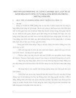 MỘT SỐ GIẢI PHÁP ĐẦU TƯ NÂNG CAO HIỆU QUẢ  SẢN XUẤT KINH DOANH Ở CÔNG TY VLXD