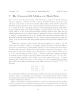 The Schwarzschild Solution and Black Holes
