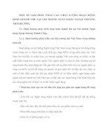 MỘT SỐ GIẢI PHÁP NÂNG CAO CHẤT LƯỢNG HOẠT ĐỘNG KINH DOANH THẺ TẠI CHI NHÁNH NGÂN HÀNG NGOẠI THƯƠNG THÀNH CÔNG
