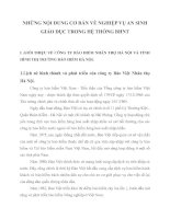 NHỮNG NỘI DUNG CƠ BẢN VỀ NGHIỆP VỤ AN SINH GIÁO DỤC TRONG HỆ THỐNG BHNT