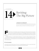 Write Better Essays  - Revising - The Big Picture