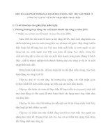 MỘT SỐ GIẢI PHÁP NHẰM ĐẨY MẠNH HOẠT ĐỘNG TIÊU THỤ SẢN PHẨM  Ở CÔNG TY VẬT TƯ VÀ XUẤT NHẬP KHẨU HOÁ CHẤT