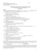 Đề thi kiểm tra Pháp Luật Đại cương - Đề số 2