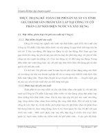 THỰC TRẠNG KẾ TOÁN CHI PHÍ SẢN XUẤT VÀ TÍNH GIÁ THÀNH SẢN PHẨM XÂY LẮP TẠI CÔNG TY CỔ PHẦN LẮP MÁY ĐIỆN NƯỚC VÀ XÂY DỰNG