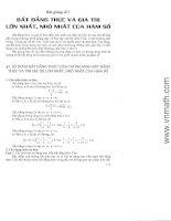 Bát đẳng thức và giá trị lớn nhât, nhỏ nhất của hàm số