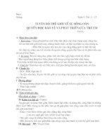 tiet 11-12: tuyên bố thế giới về sự sống còn quyền được bảo vệ và phát triển của trẻ em