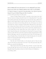 HOÀN THIỆN KẾ TOÁN BÁN HÀNG VÀ XÁC ĐỊNH KẾT QUẢ BÁN HÀNG TẠI CÔNG TY CỔ PHẦN THƯƠNG MẠI - ĐẦU TƯ LONG BIÊN