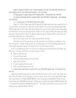 THỰC TRẠNG CÔNG TÁC THẨM ĐỊNH CÁC DỰ ÁN THUỘC LĨNH VỰC BẤT ĐỘNG SẢN TẠI CHI NHÁNH MB