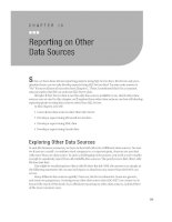 Reporting on Other Data Sources.