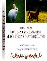 bài 45 thực hành xem băng hình về đời sống và tập tính của thú