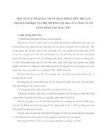 MỘT SỐ GIẢI PHÁP ĐẨY MẠNH HOẠT ĐỘNG TIÊU THỤ SẢN PHẨM BÁNH KẸO TẠI THỊ TRƯỜNG NỘI ĐỊA CỦA CÔNG TY CỔ PHẦN BÁNH KẸO HẢI CHÂU