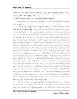 GIẢI PHÁP NÂNG CAO NĂNG LỰC CẠNH TRANH TRONG ĐẤU THẦU XÂY LẮP TẠI CÔNG TY