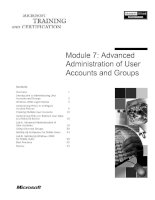 Module 7: Advanced Administration of User Accounts and Groups