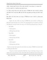 THỰC TRẠNG KẾ TOÁN VỐN CHỦ SỞ HỮU TẠI CÔNG TY TNHH SẢN XUẤT & DỊCH VỤ THƯƠNG MẠI HOÀI NAM