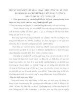 MỘT SỐ Ý KIẾN ĐỀ XUẤT NHẰM HOÀN THIỆN CÔNG TÁC KẾ TOÁN BÁN HÀNG VÀ XÁC ĐỊNH KẾT QUẢ BÁN HÀNG Ở CÔNG Ty KHÁCH SẠN DU LỊCH THẮNG LỢI